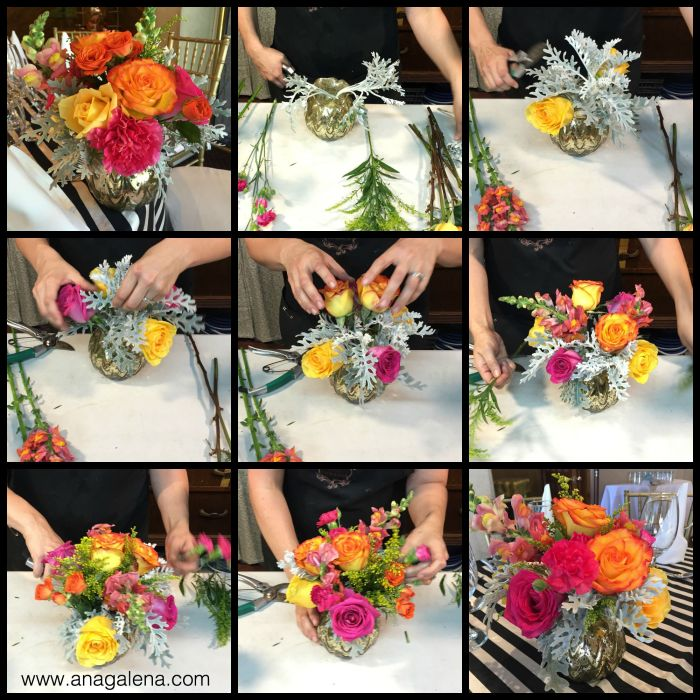 como hacer un arreglo de flores retro y colorido