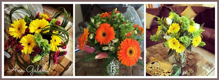florero con gerberas