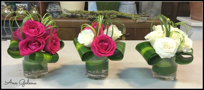 cilindros con rosas