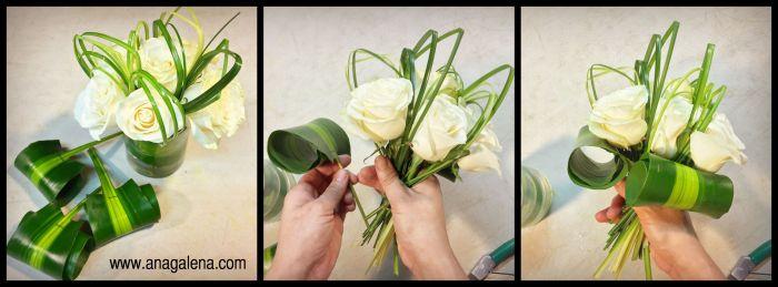como hacer un arreglo de flores bouquesitos de rosas
