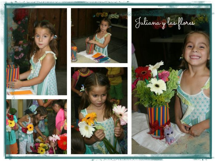 Juliana y su florero escolar