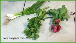 verduras para centro de mesa